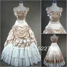 Free shipping 2013 new Custom made Victorian Corset Dress Gothic/Civil War Southern Belle Ball Gown Lolita  Vintage Costume US $145.00