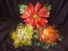 Cómo hacer flores con plástico reciclado