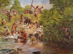 Ensign Downing's Escape - Battle of Wyoming July 3, 1778
