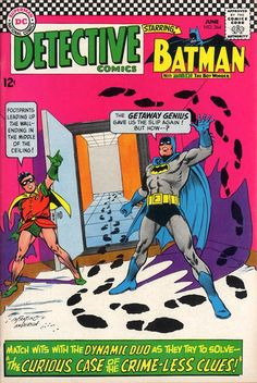 Detective Comics 364 Batman & Robin vs The Riddler! Old Comic Books, Batman Comic Books, Vintage Comic Books, Comic Book Covers, Vintage Comics, Comic Art, Dc Comics, Robin Comics, Marvel Comics Superheroes