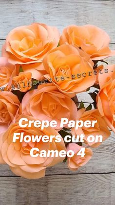 Coffee Filter Crafts, Coffee Filter Flowers, Crepe Paper Flowers, Origami Flowers, Faux Flowers, Diy Flowers, Silhouette Machine, Silhouette Cameo, Bazaar Crafts