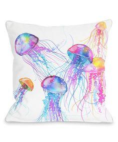 Another great find on #zulily! Jellyfish Indoor/Outdoor Throw Pillow #zulilyfinds