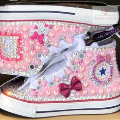 1b55b6b1ffb Minnie Mouse Shoes   Toddler Converse   Bedazzled Sneakers   Rhinestone  Converse   Blinged Converse   Custom Converse