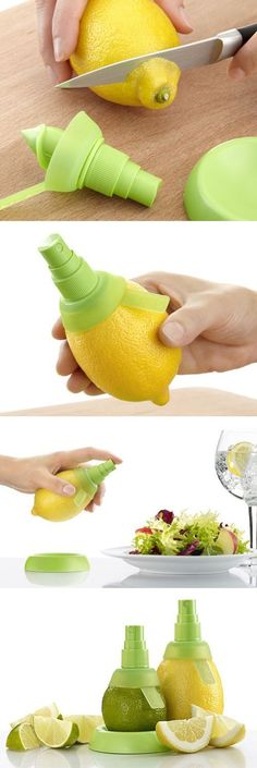 Citrus mist spray - brilliant invention! Add a spritz of lemon or lime juice to your salad etc. without squeezing! #product_design