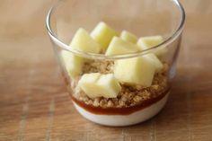 Crumble aux pommes, crème fouettée et caramel4
