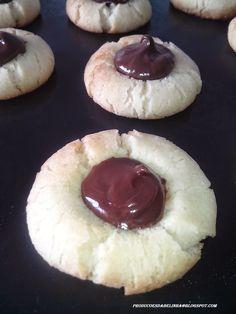 Produções da Belinha: Cookies recheadas de chocolate