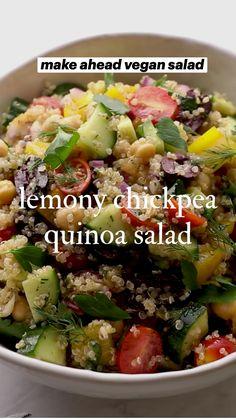 Healthy Meal Prep, Healthy Salad Recipes, Veggie Recipes, Whole Food Recipes, Healthy Eating, Cooking Recipes, Lunch Salad Recipes, Veggie Meals, Vegan Dinner Recipes