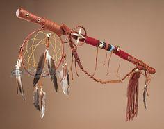 """Native American Tigua Medicine Stick 30"""""""""""