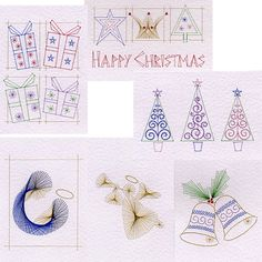 Value Pack No. 3: Christmas | Christmas patterns at Stitching Cards.