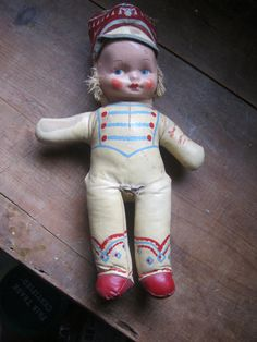 great old rag doll from TootsFair on etsy.