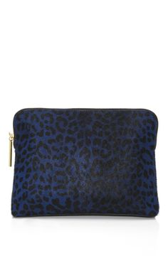 Phillip Lim Leopard Print Haircalf 31 Minute Cosmetic Zip