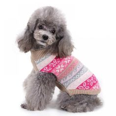 Pet Dog Sweater Puppy Winter Warm Clothes Jumper Christmas Apparel Snowflakes for Small Medium and Large Dogs Supplies Harnesses-Leashes Collars Supplies Supplies Supplies Warm Outfits, Winter Outfits, Pet Dogs, Pets, Up Costumes, Snowflake Designs, Gadget Gifts, Dog Crate, Cute Sweaters
