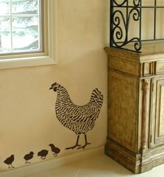 Ask BJ about this vinyl design to do on the outside of the coop?