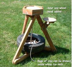 Homemade Portable Pottery Wheel