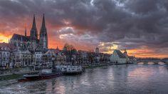 Regensburg Winter Sunset