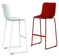 Contemporary barstools designed by Odo Fioravanti for Segis.  More: http://www.segis.it/en/products/Dragonfly/
