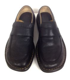 Born Shoes Black Leather Loafers Women's 9.5 #Brn #LoafersMoccasins