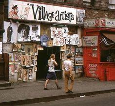Village Artists, Greenwich Village, NYC, 1966 uncredited