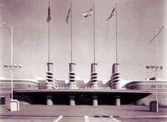 The Pan-Pacific Auditorium - One of the great losses in iconic art deco Los Angeles design. It burned down in a tragic fire. The Grove is on part of this site today.