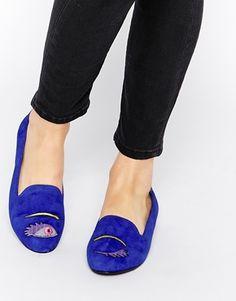 Park Lane Eye Flat Suede Slipper Shoes