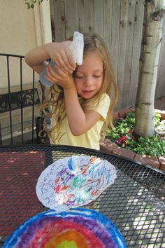 Easy summer fun: Tie-Dye Paper!