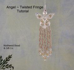 Tutorial Swarovski Angel Twisted Fringe  Instant by nwbead on Etsy, $6.00