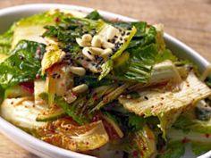 amazing salad - Kale Spinach Bok Choy Salad (can use all spinach or all kale)
