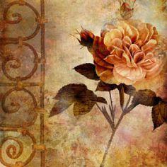 FLORES Y LETRAS PARA DECOUPAGE Vintage Botanical Prints, Botanical Art, Vintage Prints, Decoupage Vintage, Decoupage Paper, Decoupage Printables, Mini Paintings, Vintage Cards, Vintage Flowers