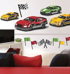 At The Track Giant Wall Decals - Wall Sticker Outlet