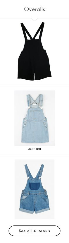 """""""Overalls"""" by ac-awesome ❤ liked on Polyvore featuring shorts, bottoms, overalls, dresses, american apparel shorts, american apparel, bib overalls, american apparel overalls, bib overalls shorts and rabbit print dress"""