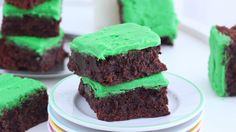 These dense chocolate-mint brownies surprisingly start with a sugar cookie base.