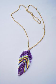 You can make a feather necklace with this DIY embroidery jewelry tutorial.