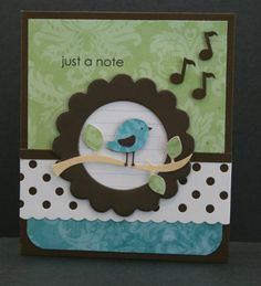 just a note card with bird