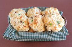 Bacon Cheddar Drop Biscuits -serve with baked potato soup