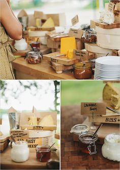cheese station, instead of platters