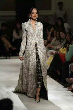 Pakistani Wedding Formal Dress- Gold/Light Blue Heavy Dress ...