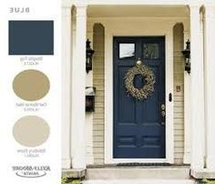 67 Trendy ideas front door colors with tan house patio Painted Exterior Doors, Exterior Front Doors, Exterior Paint Colors For House, Painted Front Doors, Siding Colors, Exterior Colors, Exterior Design, Best Front Door Colors, Best Front Doors