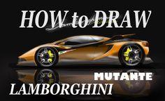 How to Draw - A Lamborghini Mutante ( concept car )