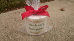 Unique Toilet paper excellent funny gift by EverythingEmb on Etsy