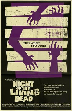 night of the living dead by markwelser d2yfam8 Vintage Movie Posters by Mark Welser