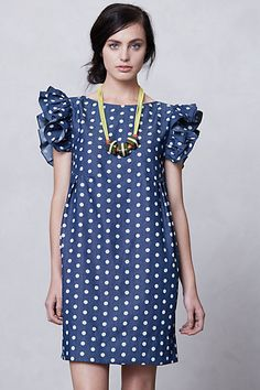 Saw this on Atlantic Pacific and of course I fell in love with the polka dot and ruffle shoulder