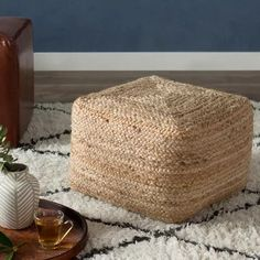 Found it at Wayfair - Ochoa Modern Pouf Ottoman Leather Pouf, Leather Ottoman, Pouf Ottoman, Plywood Furniture, Sisal, Moroccan Decor Living Room, Birthday Souvenir, Knitted Pouf, Outdoor Pouf
