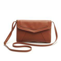 Cheap Women Envelope Bag Pu leather Handbag shoulder bags Ladies Crossbody Sling Messenger Bag Purses Blue Black Brown 7 colors