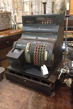 Industrial vintage cash register