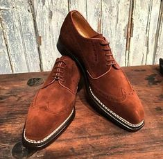 Details about Handmade Oxford Brown Shoes, Men Suede Leather Shoes, Dress Formal Classic Shoe - Elegante Schuhe Dandy, Lace Up Shoes, Dress Shoes, Men Dress, Dress Clothes, Dress Outfits, Prada, Suede Leather Shoes, Soft Leather