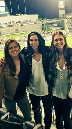 Tobin Heath, Kelley O'Hara Alex Morgan 05.29.16