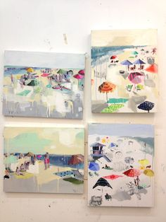 Love Teil Duncan!  The animal prints are divine, and these beach scenes put me in a happy place