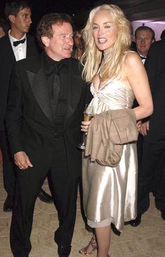 robin williams and friends | Robin Williams, Sharon Stone, Famous Friends
