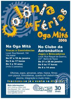 flyer Côlônia de Férias Oga Mitá - jan.2008