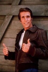 """Henry Winkler (as Arthur Herbert Fonzarelli aka """"The Fonz"""" or """"Fonzie"""" in TV show, """"Happy Days"""". I had the biggest crush on the Fonz! Nostalgia, Happy Days Tv Show, Tv Vintage, Vintage Soul, Vintage Movies, The Fonz, Emission Tv, 1970s Tv Shows, Non Plus Ultra"""